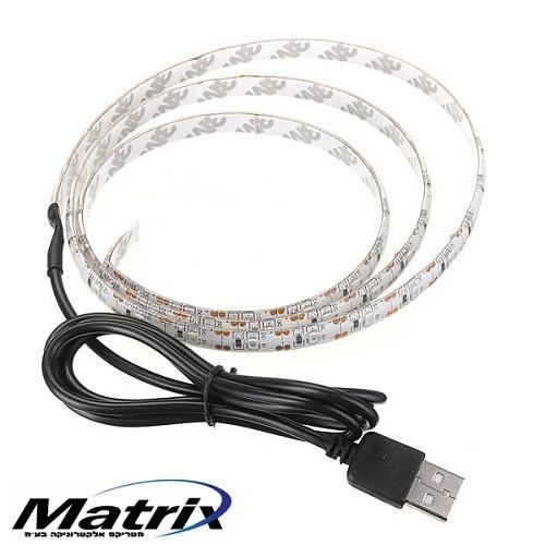 תאורת לד אחורית למסכי טלוויזיה בחיבור USB