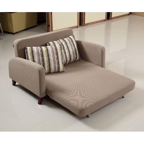 ספה מעוצבת נפתחת למיטה זוגית בעלת עיצוב מדהים