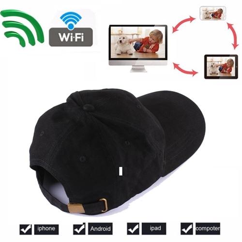 מצלמה נסתרת בכובע עם שליטה מרחוק באמצעות סמרטפון