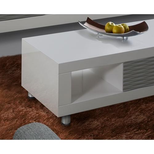 מערכת מזנון ושולחן בגימור אפוקסי לבן עם אפור