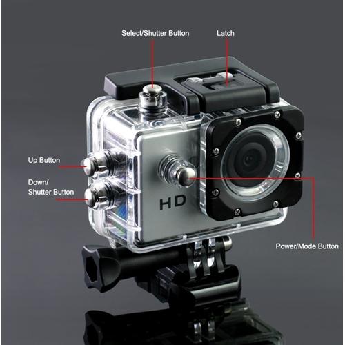 מצלמת וידאו FULL HD לצילום ספורט ואקסטרים + 16GB