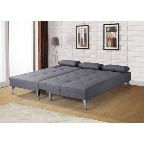 מערכת ישיבה פינתית נפתחת למיטה גדולה במיוחד