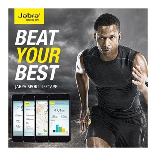 אוזניות ספורט אלחוטיות מד דופק Jabra Sport Pulse
