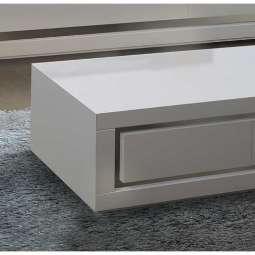 שולחן לסלון בצבע לבן בגימור אפוקסי מבית LEONARDO