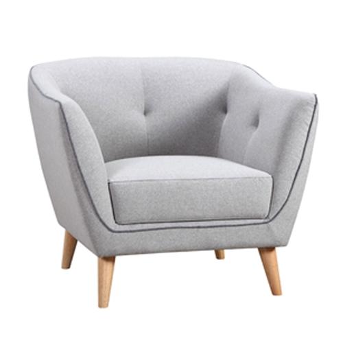 כורסא מעוצבת מבד רגליים עשויים מעץ אלון FREEMAN