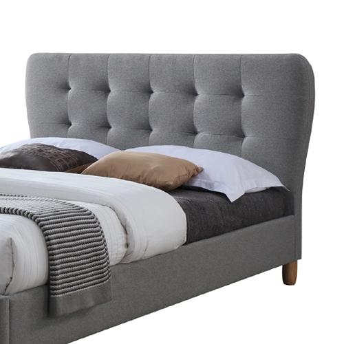 מיטת נוער רחבה ומעוצבת בריפוד בד HOME DECOR