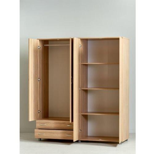 ארון בגדים קלאסי בעל 4 דלתות ו- 2 מגירות