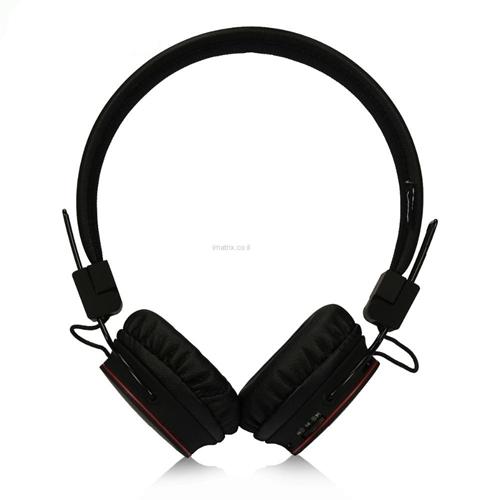 אוזניות בלוטות' ON-EAR אלחוטיות מתקפלות