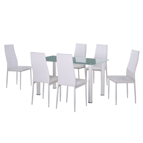 פינת אוכל מודרנית +6 כסאות מרופדים ונוחים