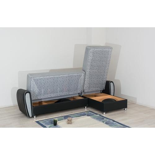 מערכת ישיבה פינתית הנפתחת למיטה זוגית דגם VERONA