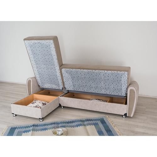 מערכת ישיבה פינתית הנפתחת למיטה זוגית דגם ZILAN