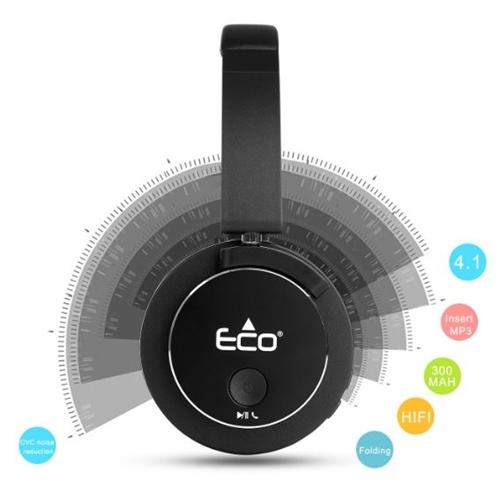 אוזניות On Ear אלחוטיות סטריאופוניות בלוטוס Eco800