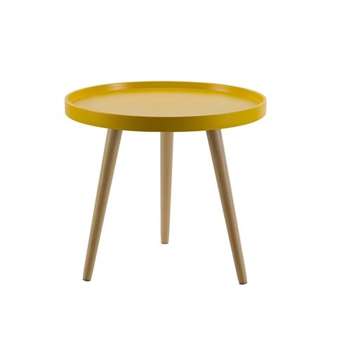 שולחן קפה עגול מעוצב מעץ