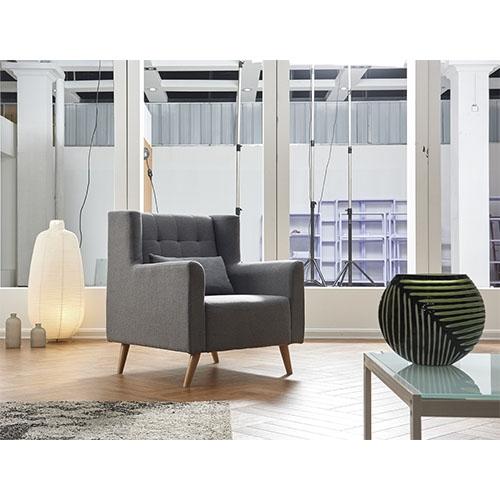 כורסא מעוצבת נוחה ומרופדת בד  HOME DECOR דגם טומי
