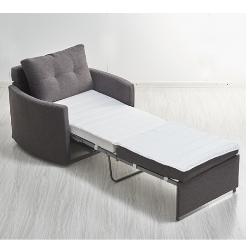 כורסא מעוצבת מרופדת בד נפתחת למיטה HOME DECOR