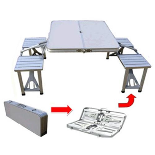 שולחן פיקניק לטיולים וקמפינג עם 4 כיסאות
