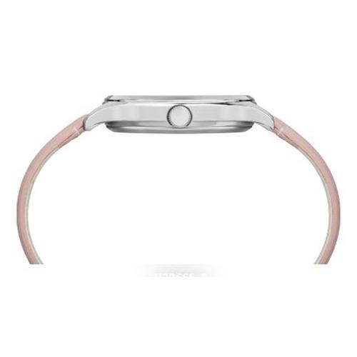 שעון יד ורוד בעיצוב פרחוני לאישה מבית TIMEX