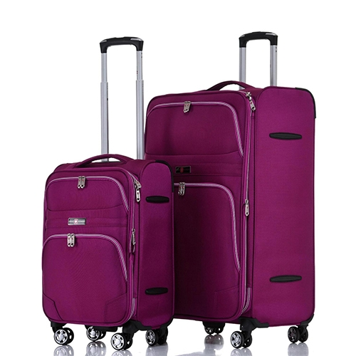 """סט מזוודות בד 19"""" 28"""" דגם Geneva מחיר מדהים!"""