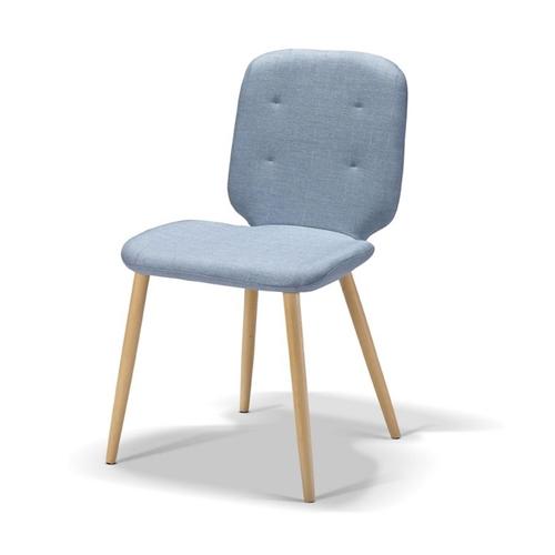 סט 4 כיסאות לפינת אוכל מרופדים בעיצוב רטרו- ביתילי