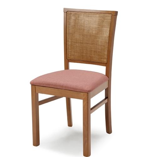 כיסא שולחן אוכל מעוצב אלגנט המשלב מסגרת עץ ביתילי