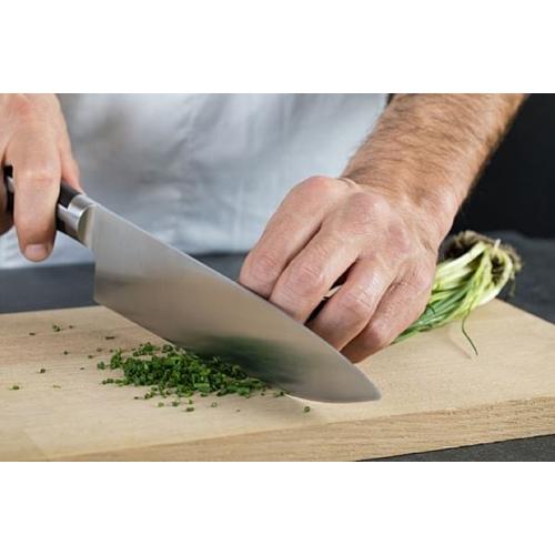 """סכין שף מחוזקת חריצים 20 ס""""מ מבית BEROX"""