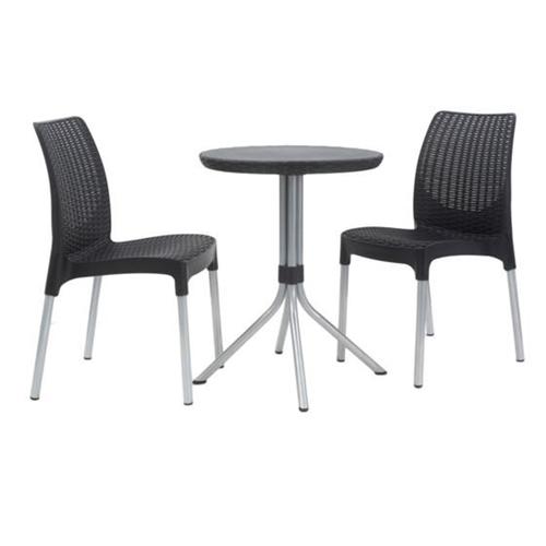 זוג כסאות צ'לסי במראה אלגנטי KETER