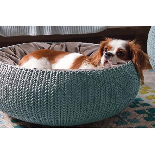 מיטת חיות מחמד מעוצבת בטקסטורה סרוגה KETER
