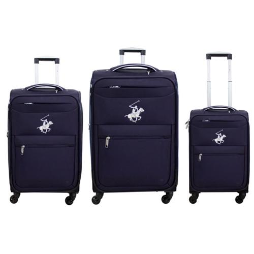 """סט 3 מזוודות חזקות ואיכותיות 28"""" 24"""" 20"""" POLO CLUB"""
