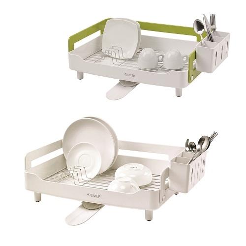 מתקן לייבוש כלים מעוצב עם ניקוז מתכוונן OLIVIER