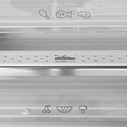 מקרר מקפיא תחתון NO FROST זכוכית לבנה Fujicom