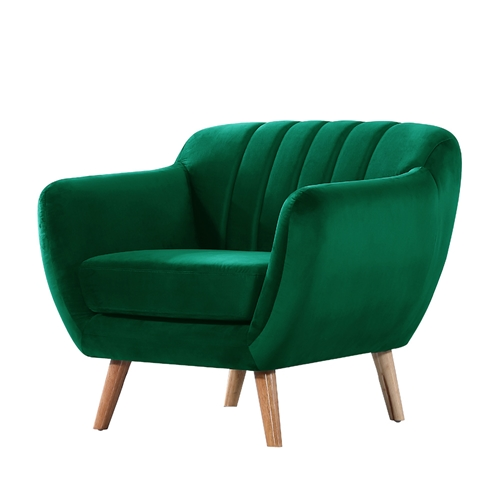 כורסא מעוצבת בד קטיפה בעיצוב רטרו מבית HOME DECOR