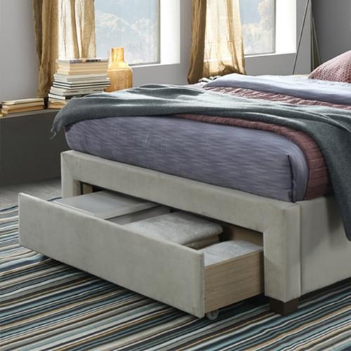מיטה מרופדת רחבה לנוער + 3 מגירות אחסון HOME DECOR