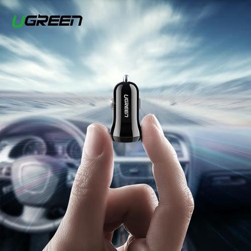 מטען איכותי לרכב UGREEN 4.8A 24W עם 2 כניסות USB