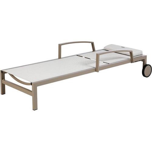 מיטת שיזוף עם גלגלים מאלומיניום רחבה במיוחד OCLAND