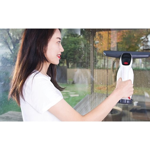 מנקה חלונות חשמלי, שואב מובנה לאיסוף מים מלוכלכים