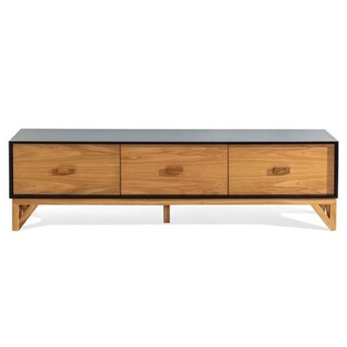 מזנון לסלון משילוב של עץ ופורניר דגם קאנטרי