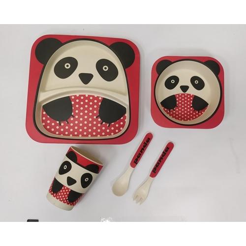 סט כלי אוכל במבוק לילדים