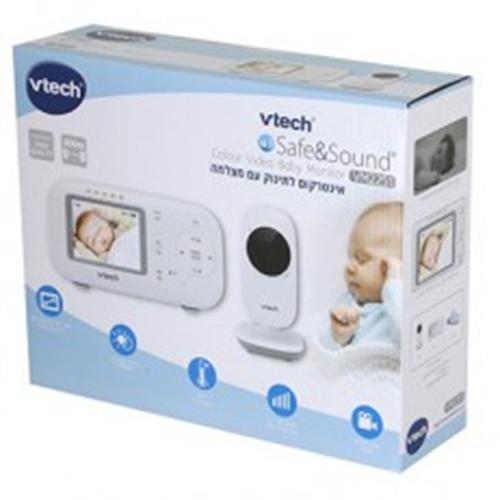 """אינטרקום לתינוק מצלמה+מסך """"2.4 Vtech"""