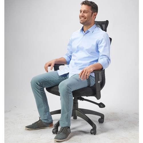 """כיסא מנהלים משרדי אורטופדי גב רשת ד""""ר גב"""