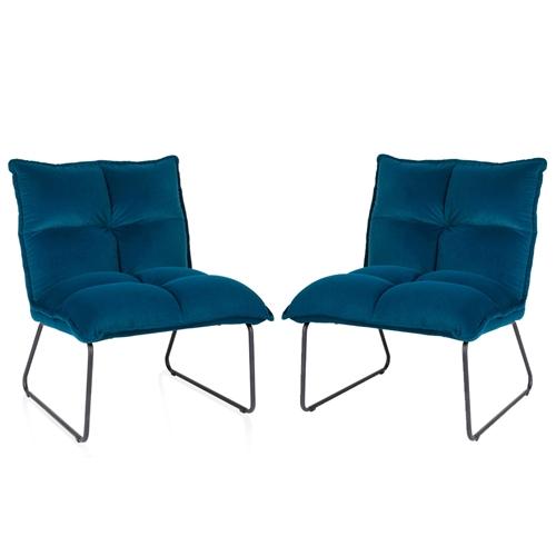 זוג כורסאות המתנה מעוצבות עם רגלי מתכת HOME DECOR