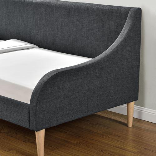 מיטת אירוח מרופדת עם מזרן ספוגים HOME DECOR