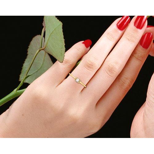 טבעת יהלום קלסית