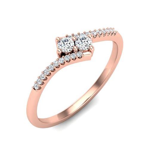 טבעת יהלומים עדינה