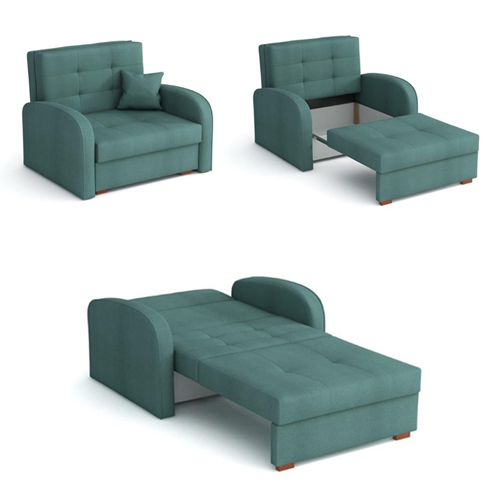 כורסא אירופאית נפתחת למיטה עם ארגז מצעים