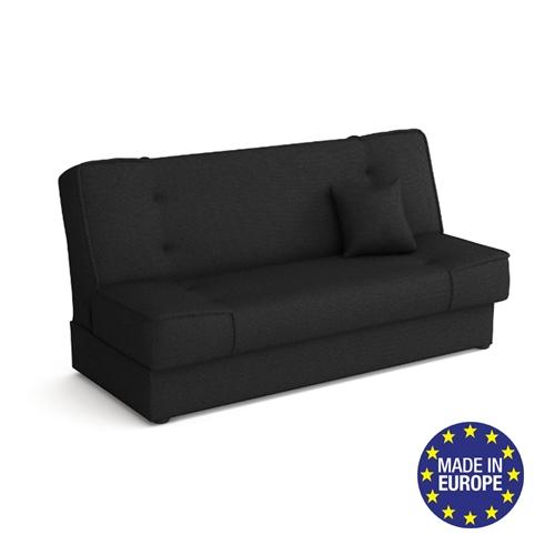 ספה אירופאית נפתחת למיטה רחבה עם ארגז מצעים