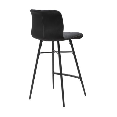 זוג כסאות בר עם רגלי מתכת HOME DECOR דגם מנהטן