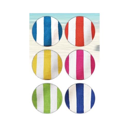 """סט 6 מגבות חוף 130/70 ס""""מ בסגנון פסים צבעוני"""