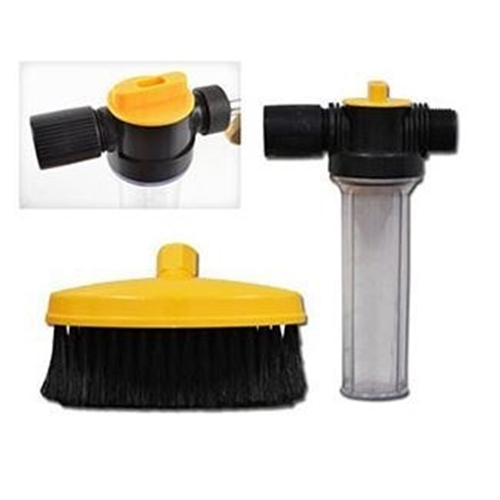 מכשיר שטיפה לניקוי בלחץ מים ללא חשמל