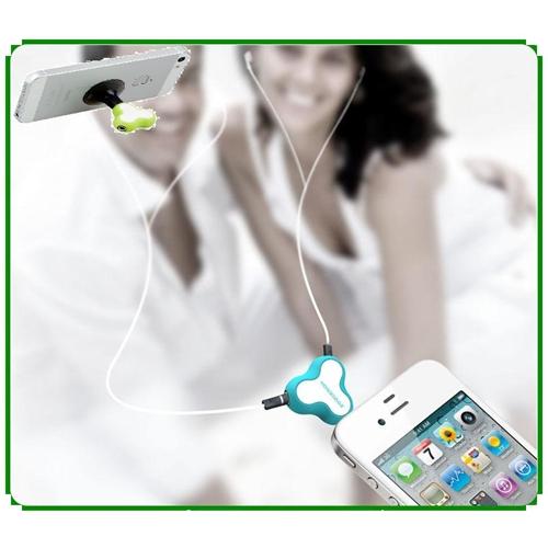 מפצל אוזניות לשמיעה משותפת כולל מעמד חיבור ואקום
