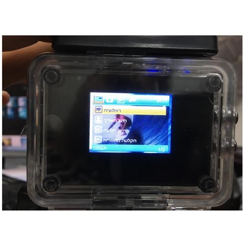 מצלמת וידאו דרך משולבת FULL- HD כולל אביזרים